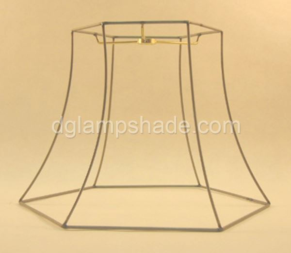 Frames custom shades lamp shadeschina factorydongguan jinli hexagon bell frame greentooth Choice Image